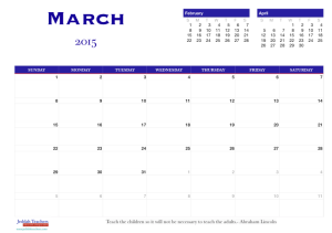 March 2015